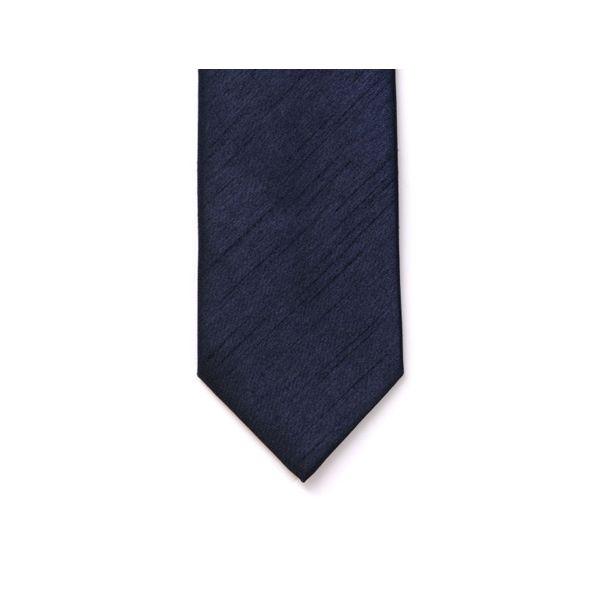 Navy Polyester Shantung Men's Tie