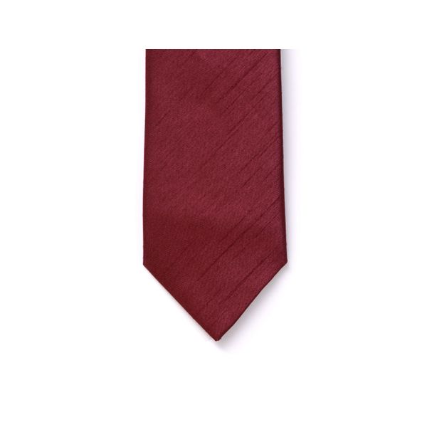 Wine Polyester Shantung Men's Tie