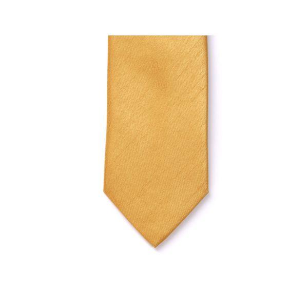 Gold Polyester Shantung Men's Tie