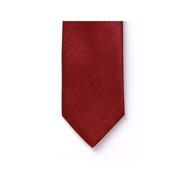 Red Polyester Shantung Men's Tie