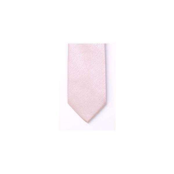 Pink Polyester Shantung Men's Tie