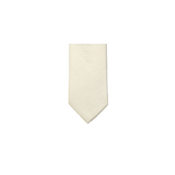 Ivory Polyester Shantung Men's Tie