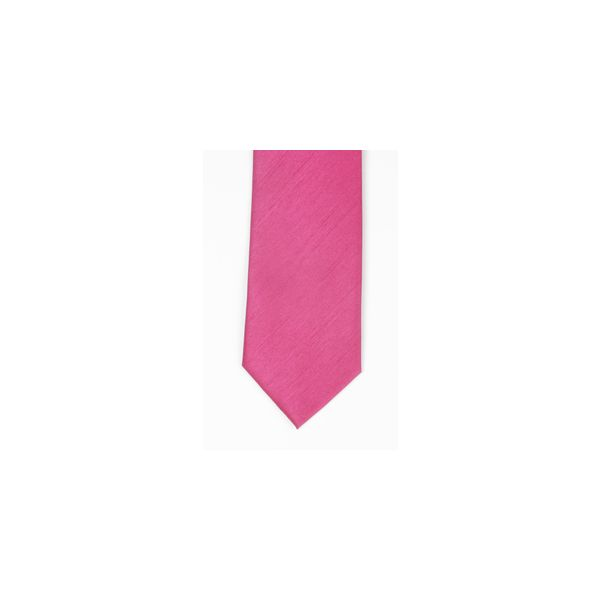Fuchsia Polyester Shantung Men's Tie