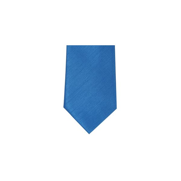 Kingfisher Blue Polyester Shantung Men's Tie