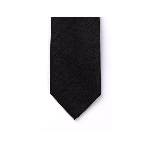 Black Polyester Shantung Boy's Tie