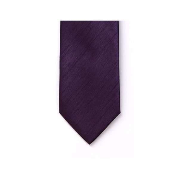 Purple Polyester Shantung Boy's Tie