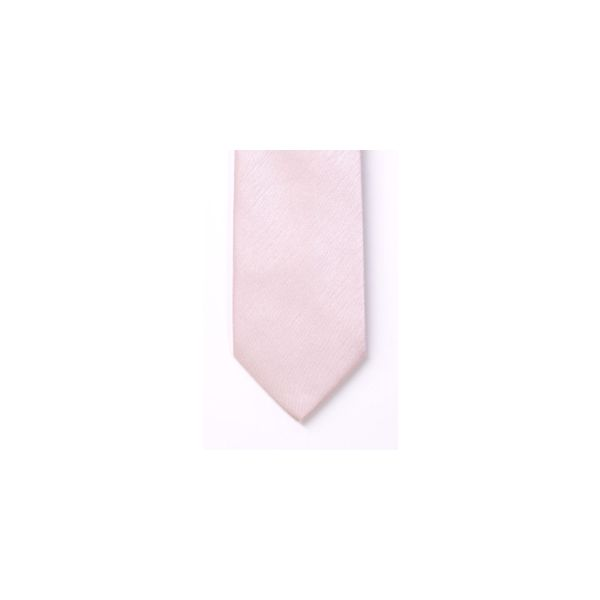 Pink Polyester Shantung Boy's Tie