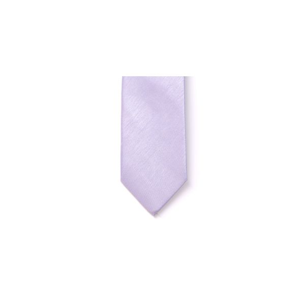 Lilac Polyester Shantung Boy's Tie