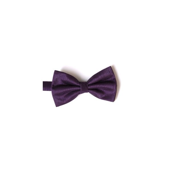 Purple Polyester Shantung Men's Bow Tie