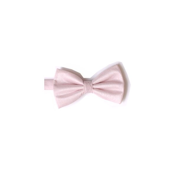 Pink Polyester Shantung Men's Bow Tie