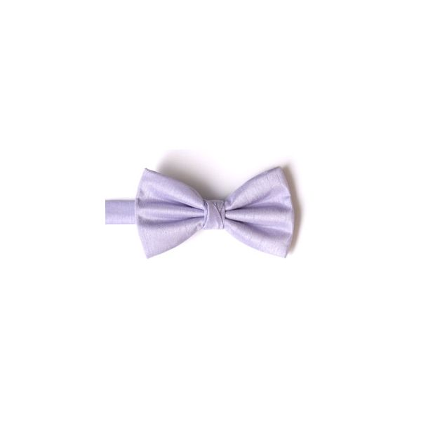 Lilac Polyester Shantung Men's Bow Tie