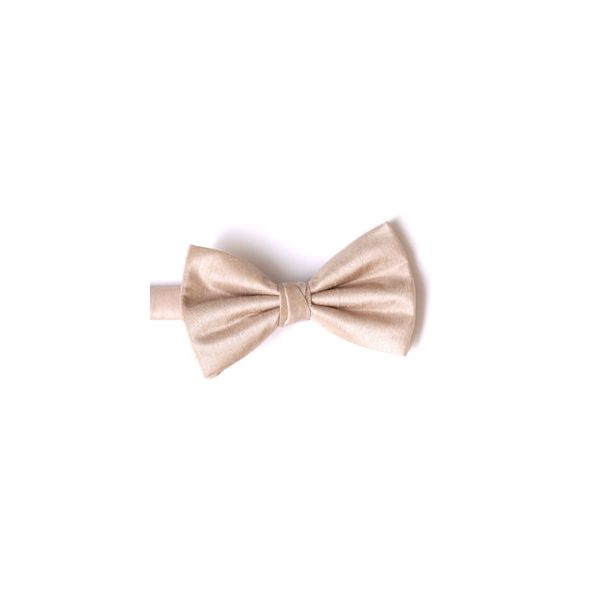 Champagne Polyester Shantung Men's Bow Tie