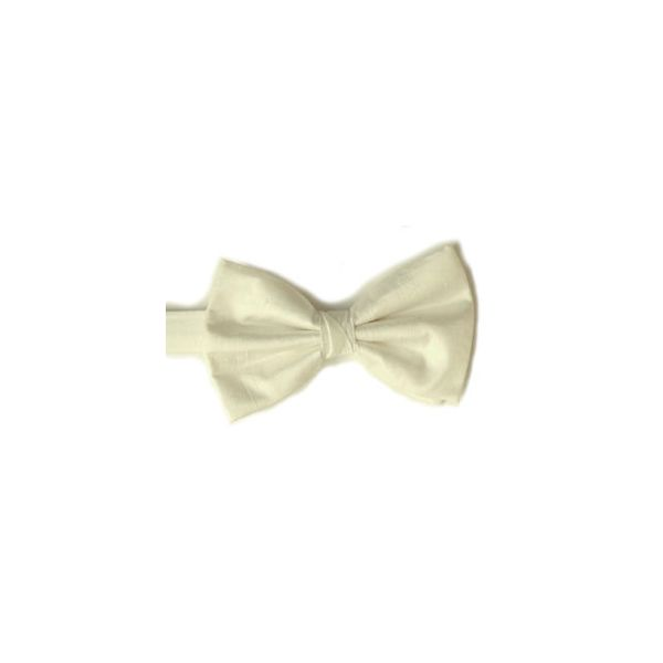Ivory Polyester Shantung Men's Bow Tie