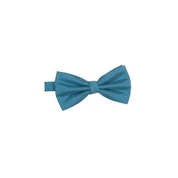Teal Polyester Shantung Men's Bow Tie
