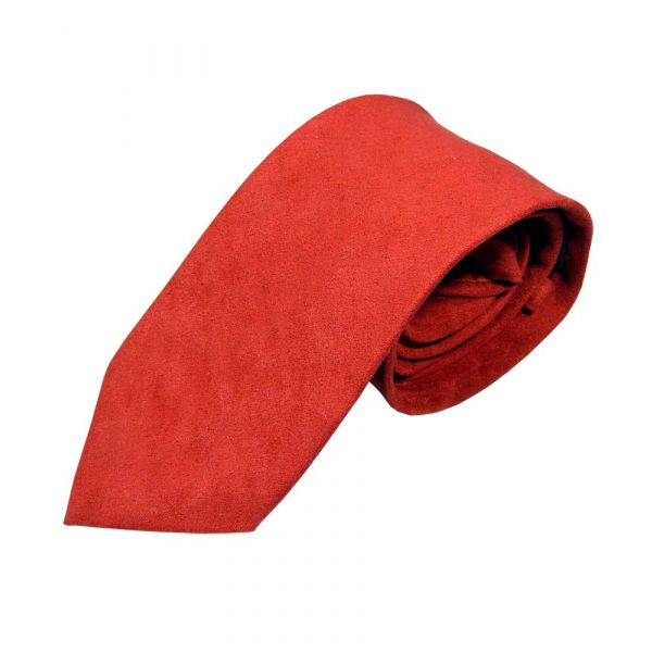 Red Suede Effect Tie from Lloyd Attree & Smith