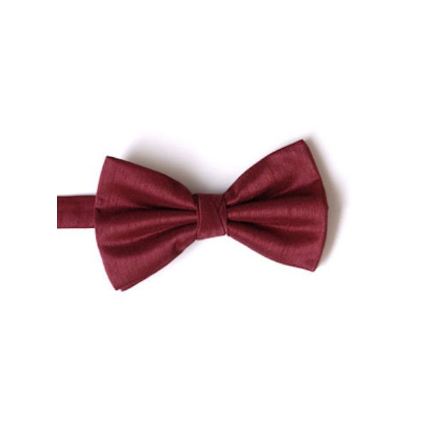 Wine Polyester Shantung Men's Bow Tie