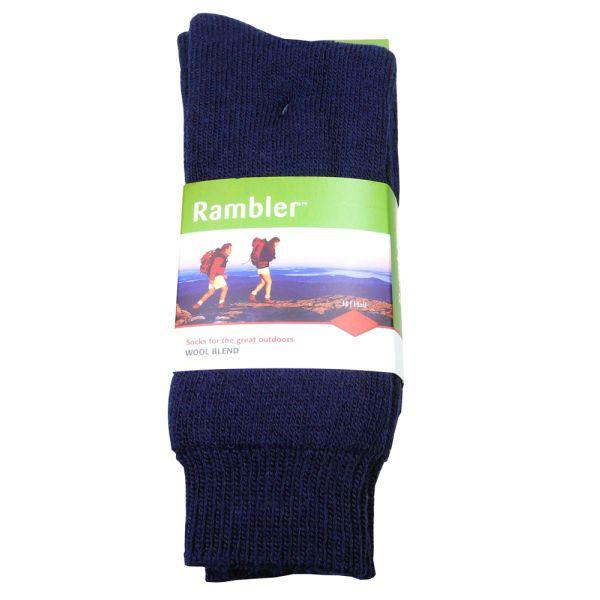 Navy Rambler Sock
