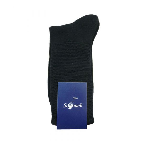 Black Softouch Cushioned Foot Socks