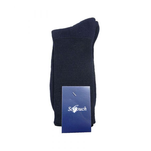 Navy Softouch Cushioned Foot Socks