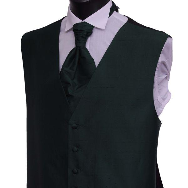 Bottle Green Silk Waistcoat