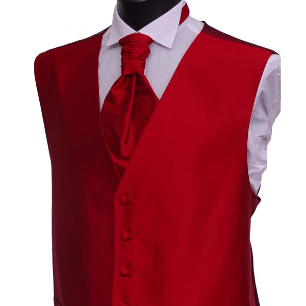 Red Silk Waistcoat from Lloyd Attree & Smith