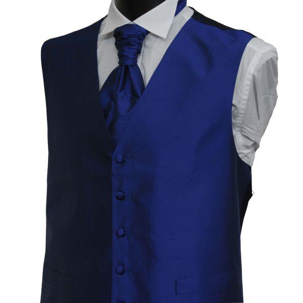 French Navy Boys Silk Waistcoat