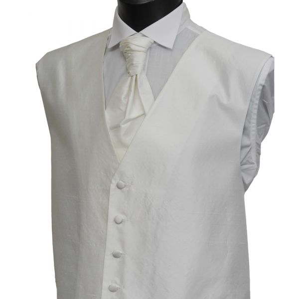 White Boys Silk Waistcoat