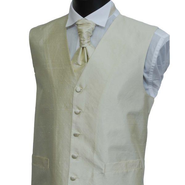 Ecru Boys Silk Waistcoat