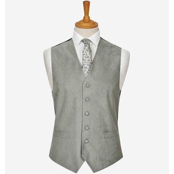Grey Suede Effect Waistcoat from Lloyd Attree & Smith