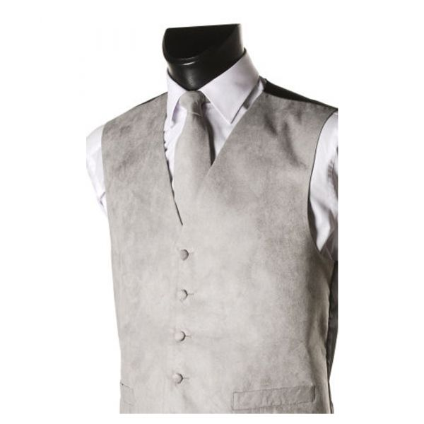 Grey Suede Effect Waistcoat from Lloyd Attree & Smith