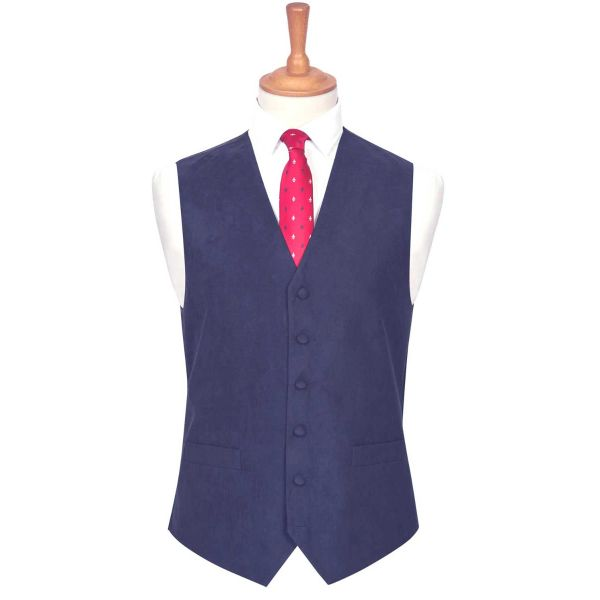 Navy Suede Effect Waistcoat from Lloyd Attree & Smith