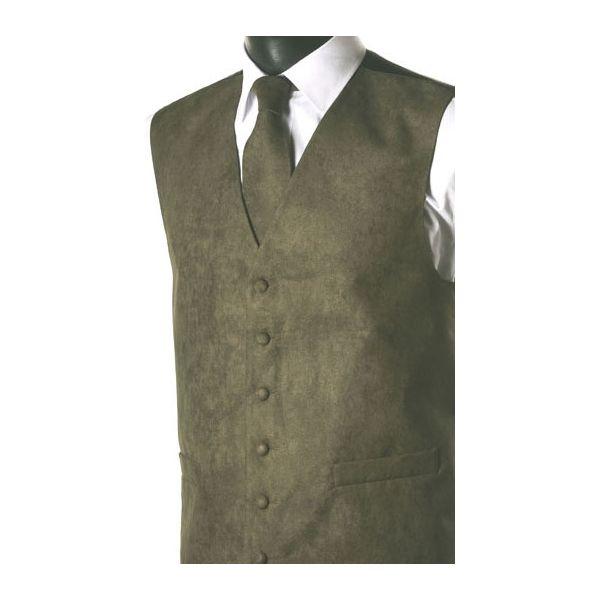 Lovat Green Suede Effect Waistcoat-M