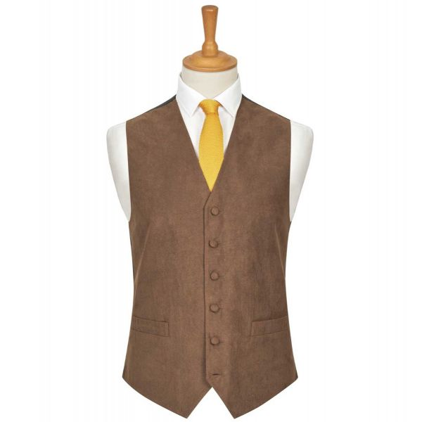 Light Brown Suede Effect Waistcoat from Lloyd Attree & Smith