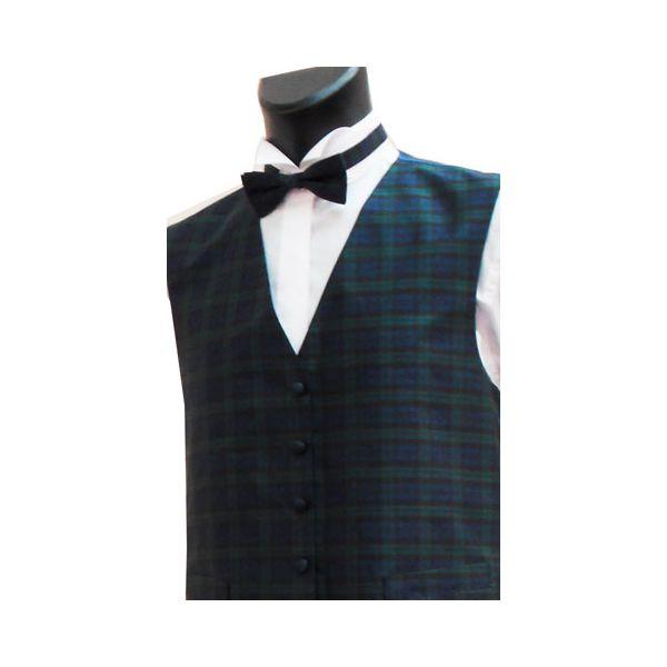 Boys Blackwatch Tartan Silk Waistcoat