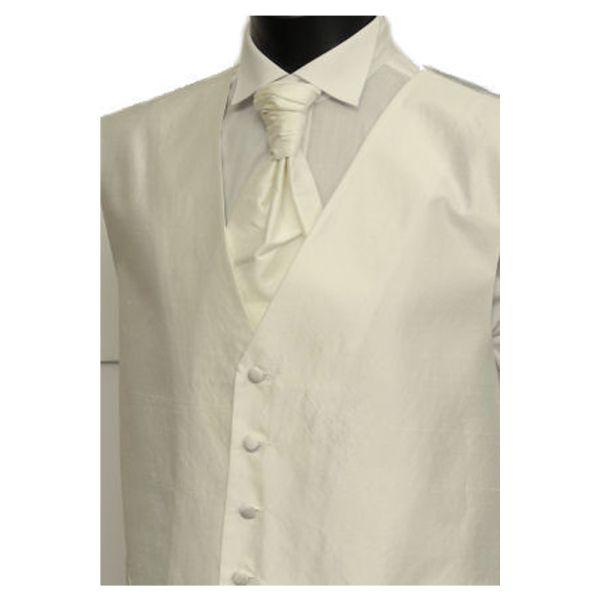 Boys Ivory Polyester Shantung Waistcoat