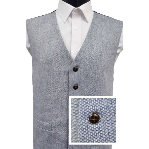Blue Wool Handle Waistcoat from Lloyd Attree & Smith