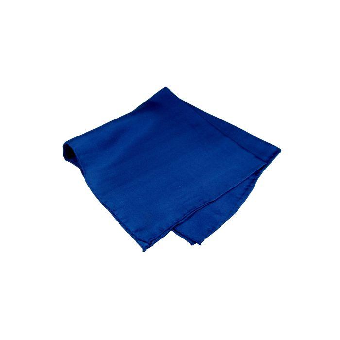 Navy Blue Silk Handkerchief