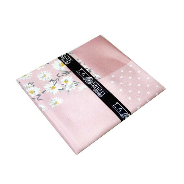Pink Floral Fourway Handkerchief from L A Smith