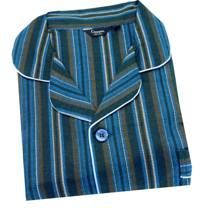 Kingston. Blue Stripe Cotton Pyjamas from Champion