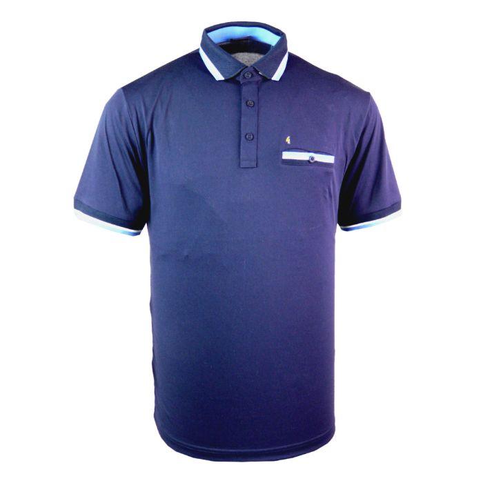Classic Gabicci Polo Shirt with Contrast Trim