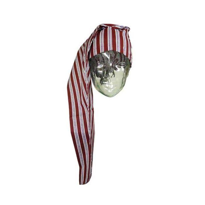 Wine Striped Cotton Nightcap