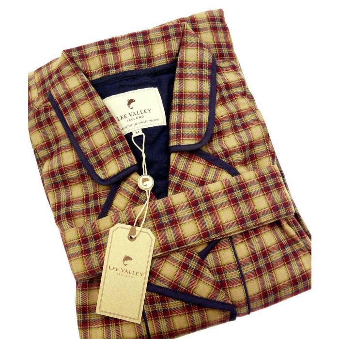Claret Check Country Flannel Gown from Lee Valley